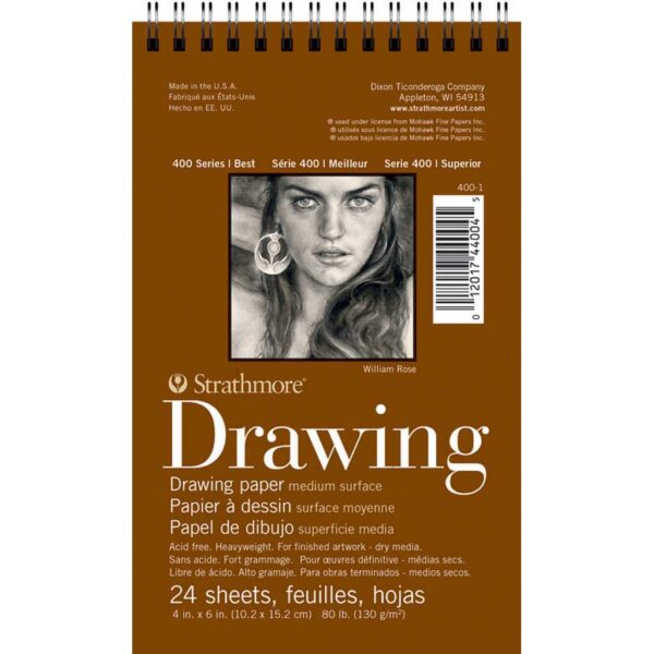 Strathmore 400 Series Drawing Paper - 4 x 6 in Medium Surface 130gsm (80lb)