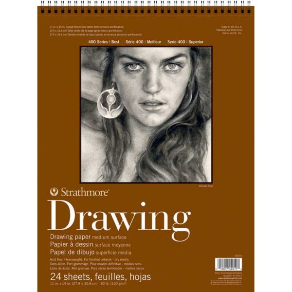 Strathmore 400 Series Drawing Paper - 11 x 14 in Medium Surface 130gsm (80lb)