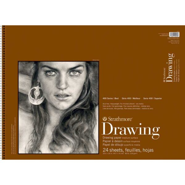 Strathmore 400 Series Drawing Paper - 18 x 24 in Medium Surface 130gsm (80lb)