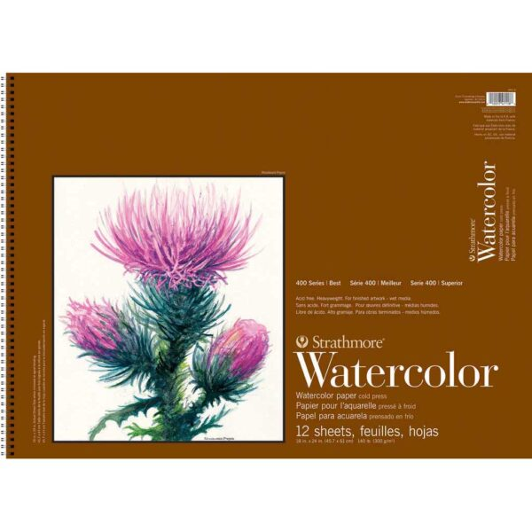Strathmore 400 Series Watercolor Pads - 18 x 24 in Cold Press 300gsm (140lb)