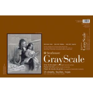 Strathmore 400 Series Gray Scale - 12 x 18 in Medium Surface 216gsm (80lb)