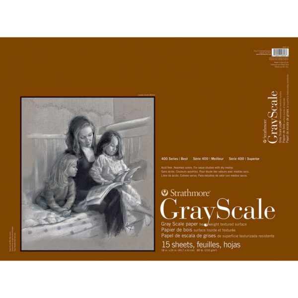 Strathmore 400 Series Gray Scale - 18 x 24 in Medium Surface 216gsm (80lb)