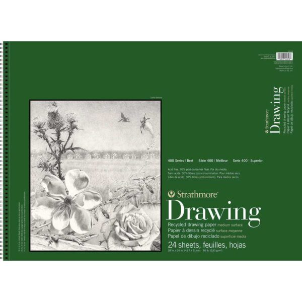 Strathmore 400 Series Recycled Drawing - 18 x 24 in Medium Surface 130gsm (80lb)