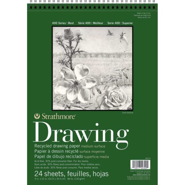 Strathmore 400 Series Recycled Drawing - 9 x 12 in Medium Surface 130gsm (80lb)