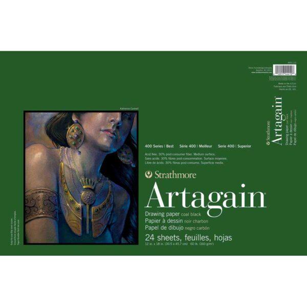 Strathmore 400 Series Artagain Paper  - Black 12 x 18 in 160gsm (60lb)