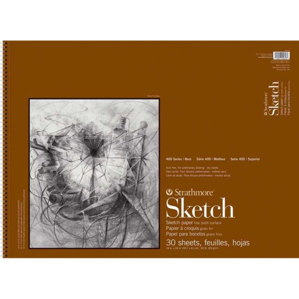 Strathmore 400 Series Sketch Pads  - 18 x 24 in Fine Surface 89gsm (60lb)