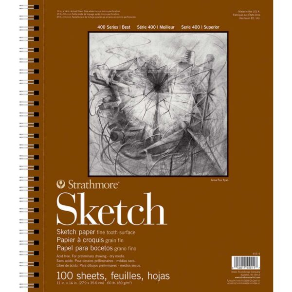 Strathmore 400 Series Sketch Pads  - 11 x 14 in Fine Surface 89gsm (60lb)