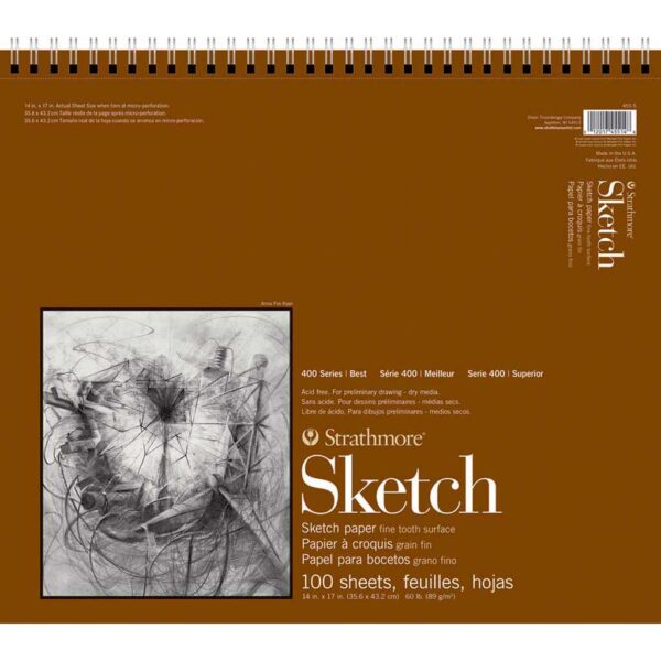 Strathmore 400 Series Sketch Pads  - 14 x 17 in Fine Surface 89gsm (60lb)