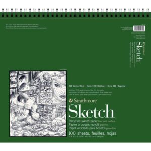 Strathmore 400 Series Recycled Sketch Pads - 14 x 17 in Fine Surface 89gsm (60lb)