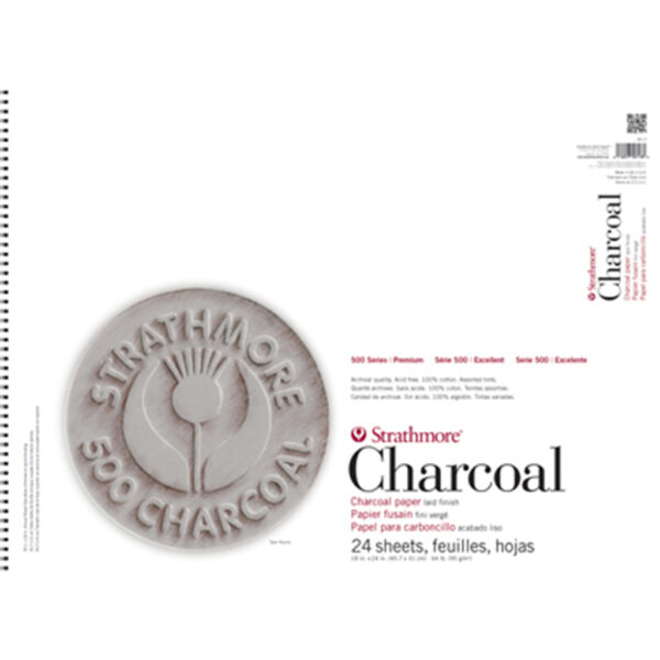 Strathmore 500 Series Charcoal Pads - Assorted 18 x 24 in 95gsm (64lb)