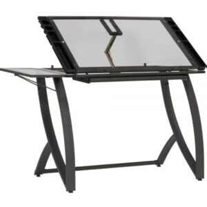 Studio Designs Futura Luxe Table Pewter Angle View