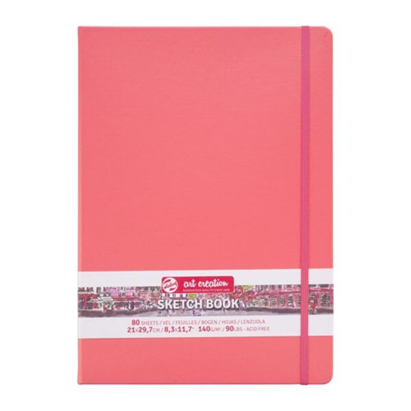 Talens Art Creation Sketch Books - Coral 140g/90lbs 8.3 x 11.7in (A4)