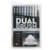 Tombow Dual Brush Pen Set Grayscale