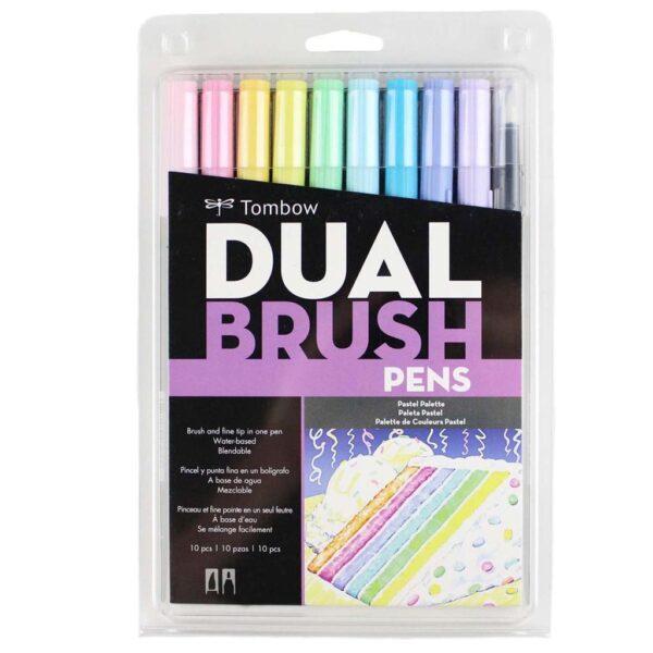 Tombow Dual Brush Pen Set Pastel