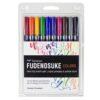 Tombow Fudenosuke Marker Brush Pen 10 Pack