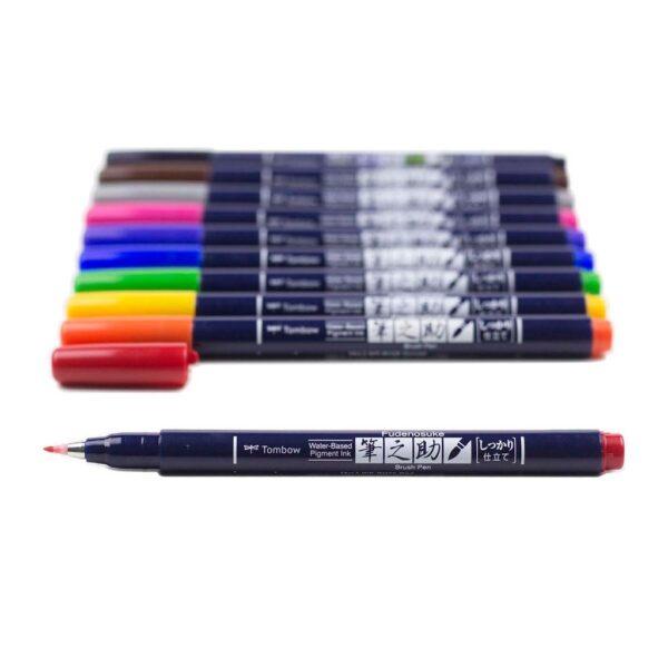 Tombow Fudenosuke Marker Brush Pen Angle
