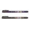 Tombow Fudenosuke Marker Soft Hard 2 Pack Open