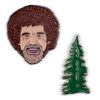 Bob Ross and Happy Little Tree Pins