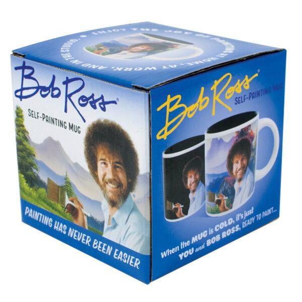 Unemployed Philosopher Coffee Mug Bob Ross Packaged