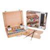 Van Gogh Wooden Box Oil Set 10 x 40ml Open