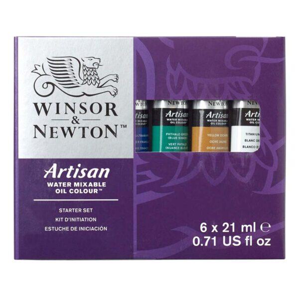 Winsor Newton Artisan Starter Set 6 x 21ml Front