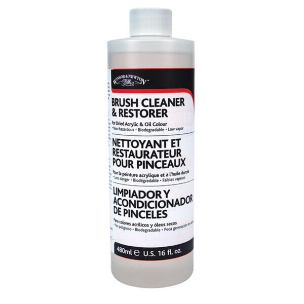 Winsor and Newton Brush Cleaners - Bottle 473 ml (16 OZ)