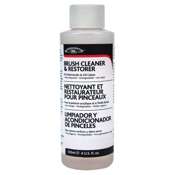 Winsor and Newton Brush Cleaners - Bottle 237 ml (8 OZ)