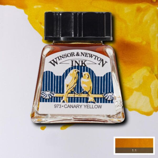 Winsor and Newton Drawing Inks - Canary Yellow 14 ml (0.47 OZ)