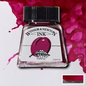 Winsor and Newton Drawing Inks - Purple 14 ml (0.47 OZ)
