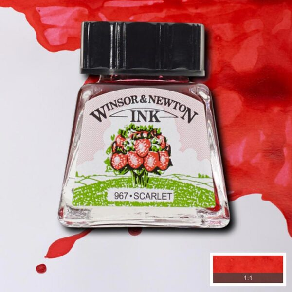 Winsor and Newton Drawing Inks - Scarlet 14 ml (0.47 OZ)
