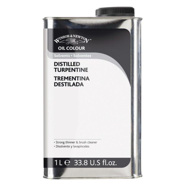 Winsor and Newton English Distilled Turpentine - 1 Litre (33.8 OZ)