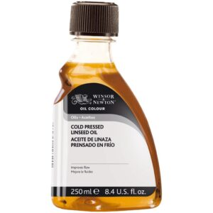 Winsor and Newton Cold Pressed Linseed Oil - 250 ml (8.4 OZ)