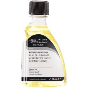 Winsor and Newton Refined Linseed Oil - 250 ml (8.4 OZ)