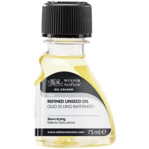 Winsor and Newton Refined Linseed Oil - 75 ml (2.5 OZ)