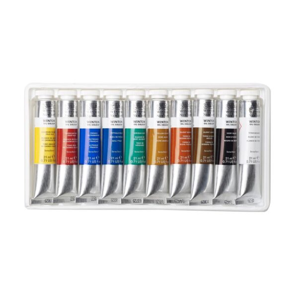 Winsor and Newton Winton Oil Color Sets - 10 x 37 ml Tubes