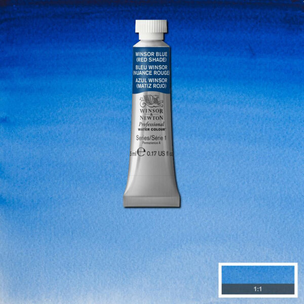 Winsor and Newton Professional Watercolor Tubes - Winsor Blue (Red Shade) 709 5 ml (0.17 OZ)
