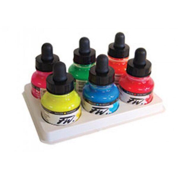 FW Acrylic Ink Fluorescent Set 6 x 30 ml (1 OZ)