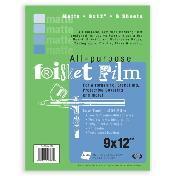 Grafix Frisket Film Matte 9 x 12 in