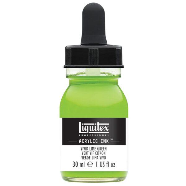 Liquitex Professional Acrylic Inks - Vivid Lime Green 740 30 ml (1 OZ)