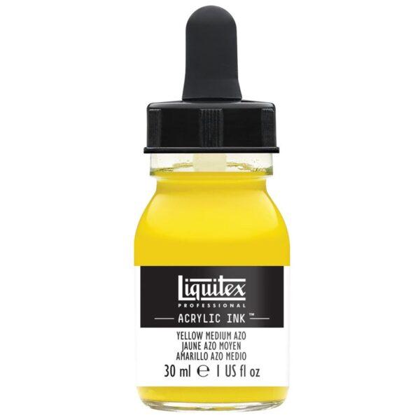 Liquitex Professional Acrylic Inks - Yellow Medium Azo 412 30 ml (1 OZ)