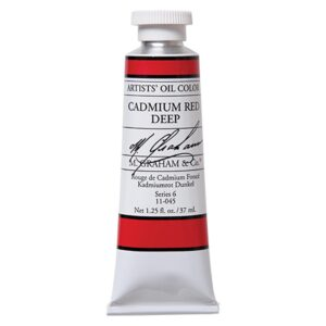 M. Graham Artist Oil Paints - Cadmium Red Deep 045 37 ml (1.25 OZ)