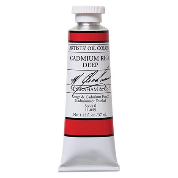 M. Graham Artist Oil Paints - Cadmium Red Deep 045 37 ml (1.25 OZ)