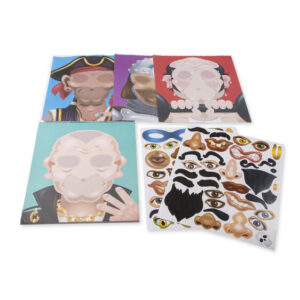 Make a Face Crazy Character Sticker Pad Open
