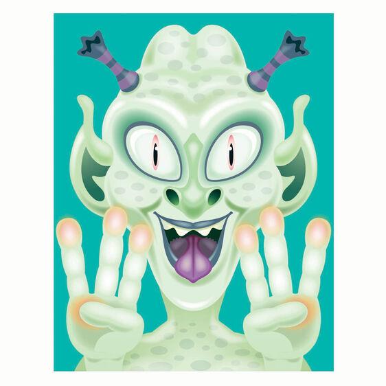 Make a Face Crazy Character Sticker Pad Art