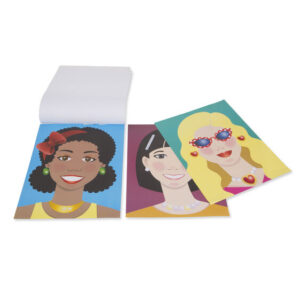 Make a Face Fashion Sticker Pad Open