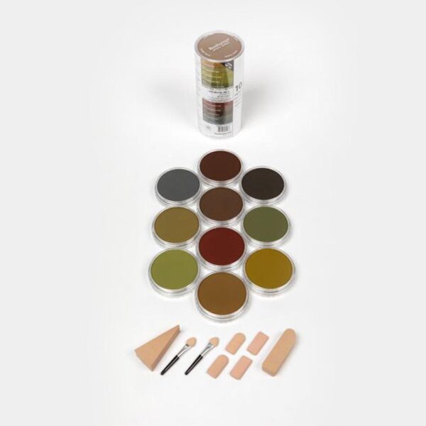 PanPastel Extra Dark Shades - Warm  (10 Colors Set)