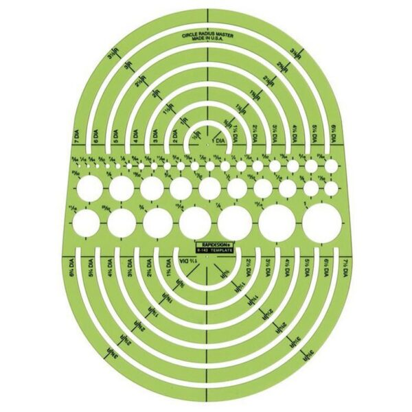 Rapidesign R-142 Architectual Template Circle Radius Master