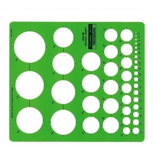 Rapidesign R-2140 Architectual Template Metric Large Circle