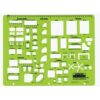 Rapidesign R-716 Architectual Template Kitchen/Bed/Bath 1/4 Scale
