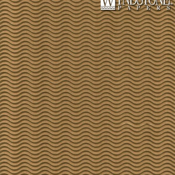 Black Ink Corrugated Illusion Wave-Flute Cover Kraft Brown 78Lb 29 X 40 In